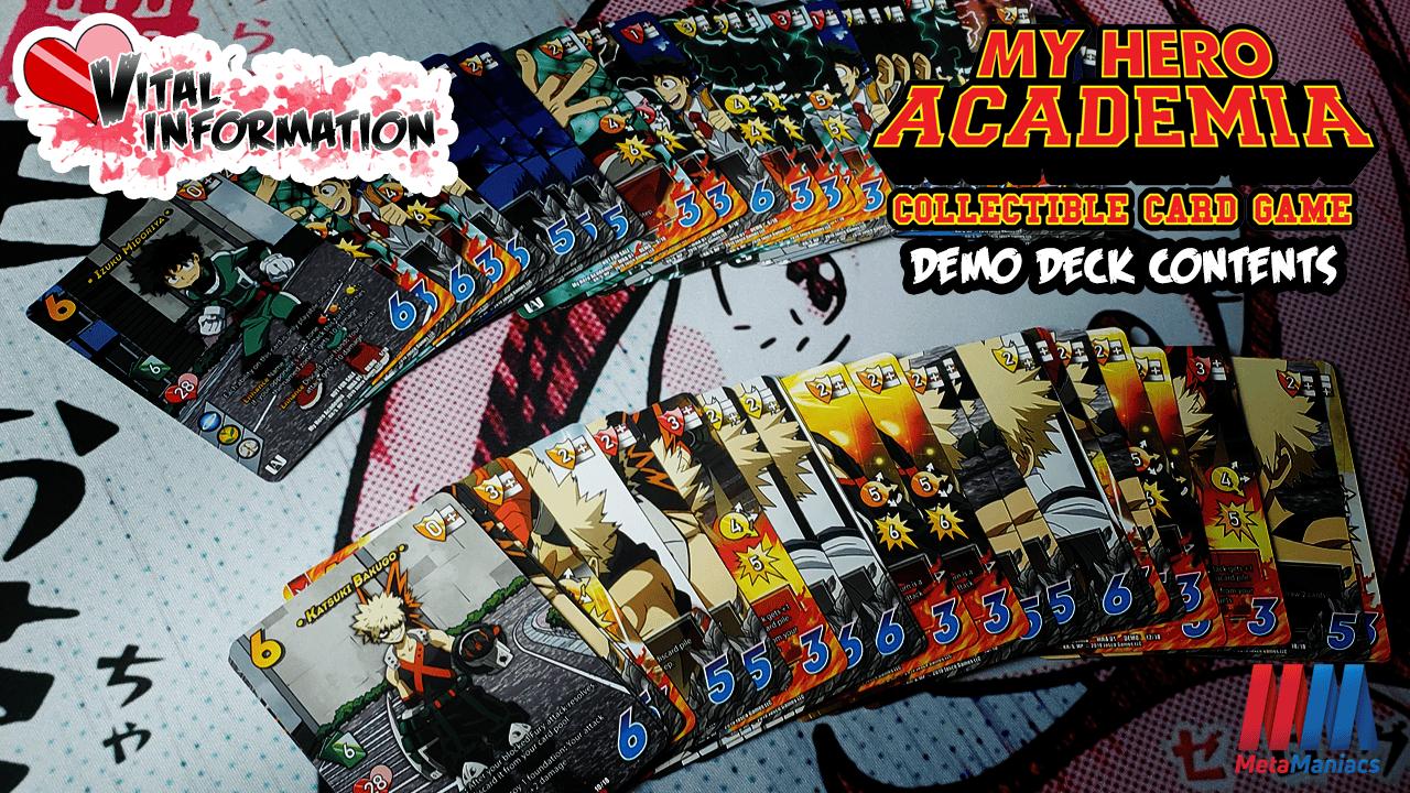 Vital Information – My Hero Academia Demo Deck Contents!