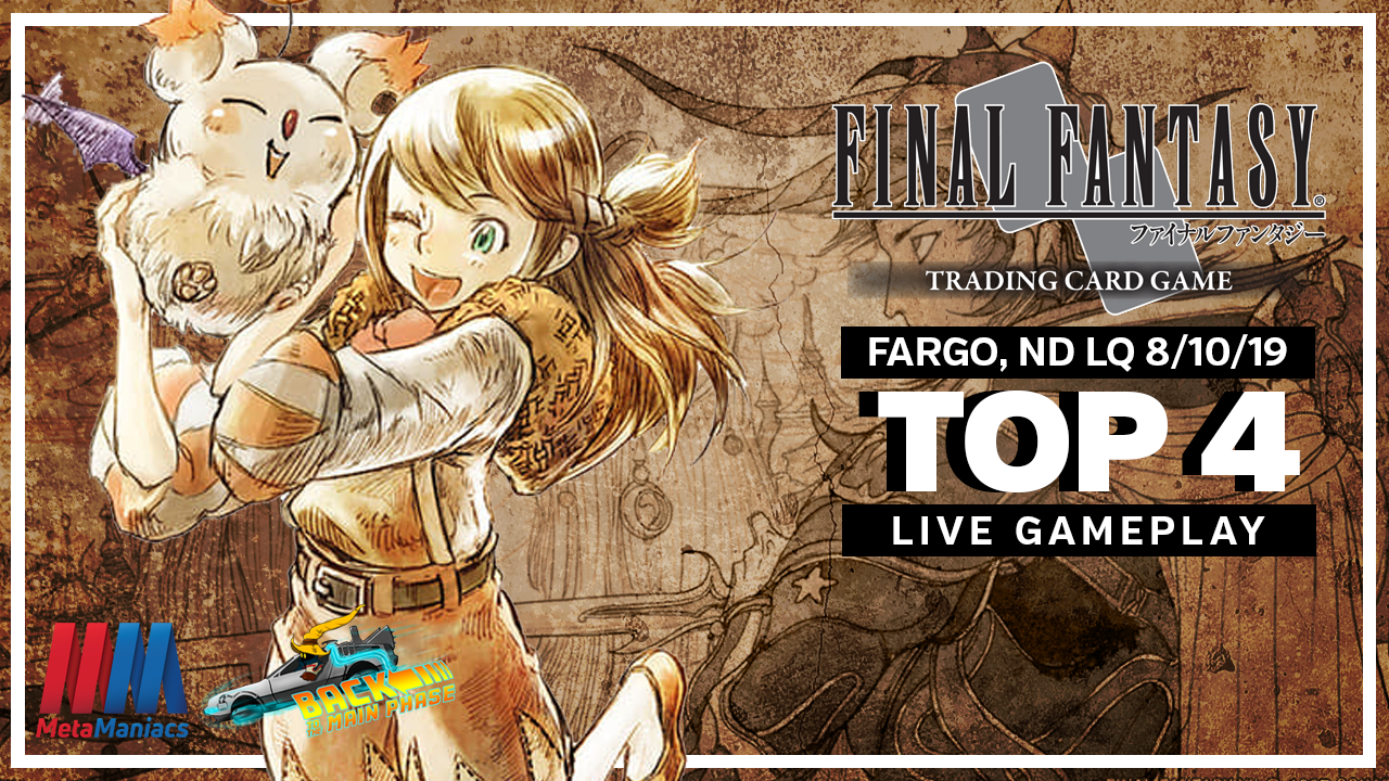 FFTCG Fargo, ND Local Qualifier – Top 4 Live Gameplay (with Commentary)