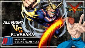 All Might vs Kuwabara! UniVersus CCG Online Gameplay