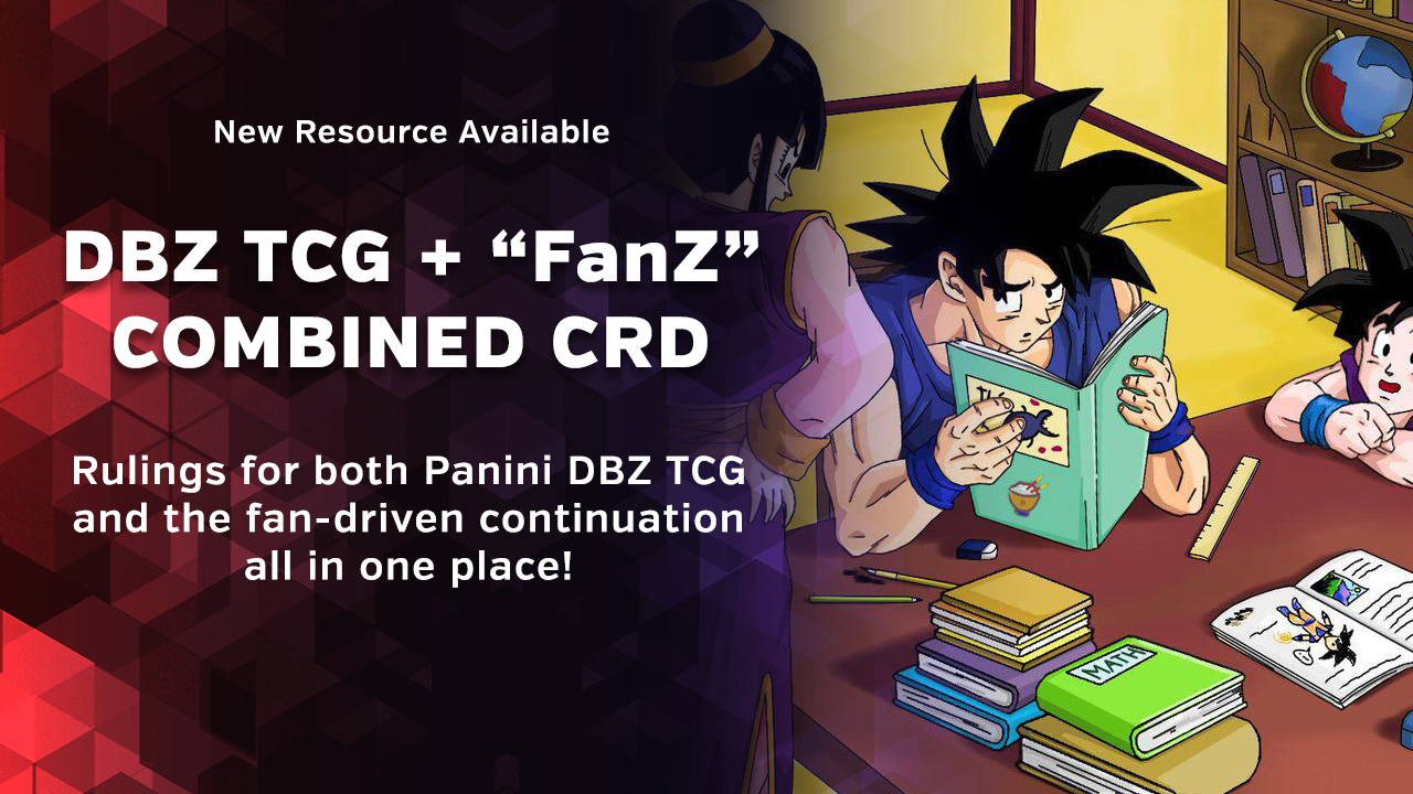 Now Available: Panini DBZ TCG + FanZ Combined CRD