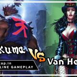 Akuma vs Van Helsing - UniVersus CCG Online Gameplay