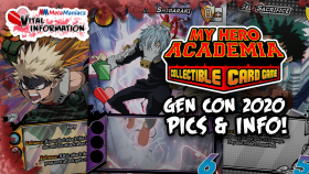 Vital Information – My Hero Academia CCG Gen Con 2020 Info and Images!