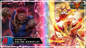 Akuma vs Remiliss – UniVersus CCG Online Gameplay