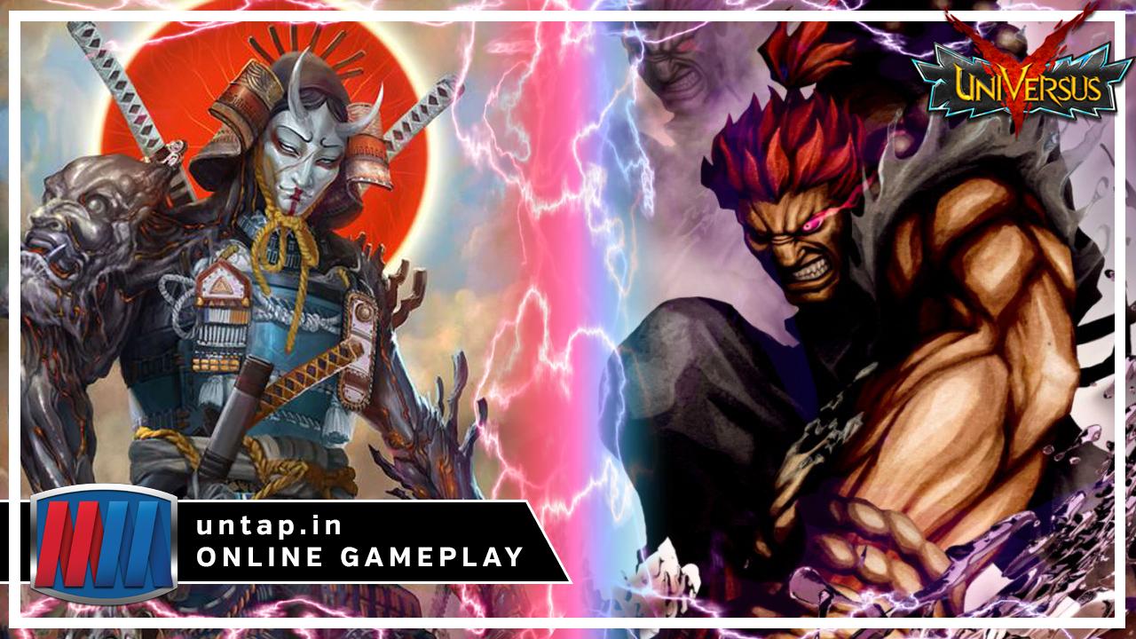 Yoshimitsu vs Akuma – UniVersus CCG Online Gameplay